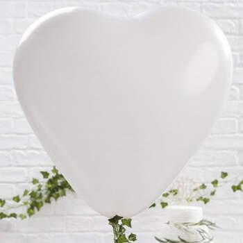 Maxi globo corazón blanco 3 unidades - Compra en The Wedding Shop