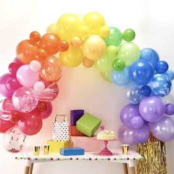 Arc De Ballons Arc En Ciel 85 Pièces - Achetez sur The Wedding Shop !