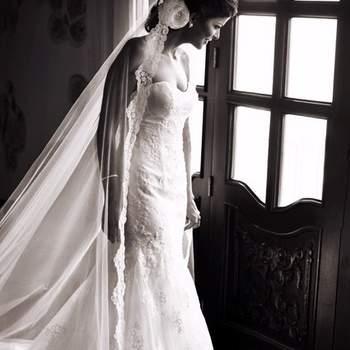 """Estilo """"catedral"""" es mucho más largo que el vestido de la novia su medida llega hasta los 2 metros y medio."""