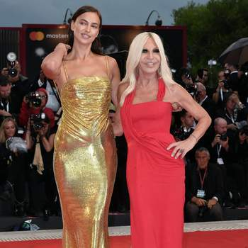 Irina Shayk and Donatella Versace attend A Star Is Born premiere.   Red Carpet 75th Venice International Film Festival, Italy 31-08-2018