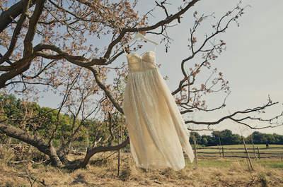 Alternativas al tradicional color blanco del vestido de novia. ¡Atrévete con el color!