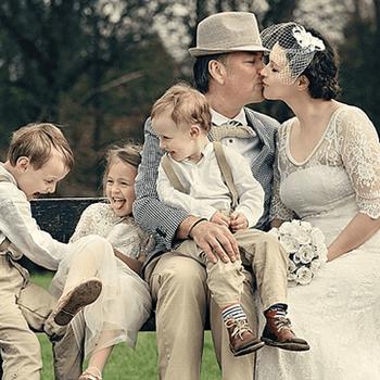 Divertida imagen de toda la familia.