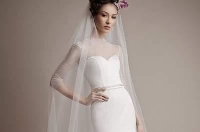 I 70 abiti da sposa con scollo trasparente più romantici della stagione