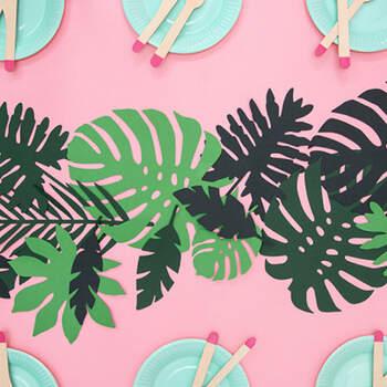 Decoración Hojas Tropical Aloha 21 Unidades- Compra en The Wedding Shop