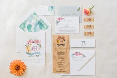 Más de 40 invitaciones de matrimonio. ¡Inspírate en las tendencias del momento!