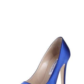 Open toe blu in raso