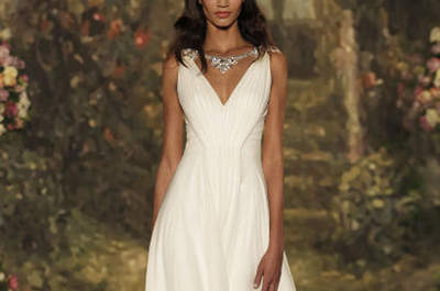 Simple and Clean: Minimalistic Wedding Dresses for 2016