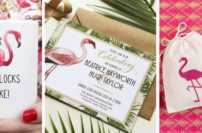 Flamingos en tu boda, la última tendencia en decoración