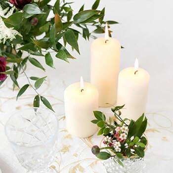Candela decorativa marfil piccola 6 pezzi- Compra en The Wedding Shop