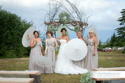 Wedding Decoration Idea: Paper Umbrellas & Parasols