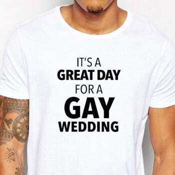 Camiseta Great Day For A Gay Wedding- Compra en The Wedding Shop
