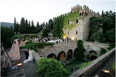 Un castello a Firenze, per celebrare il tuo matrimonio. Nella foto: Castello di Vincigliata