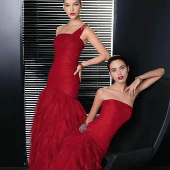 """Convidadas vestidas por Rosa Clará? Sim, a estilista catalã vai para além das noivas. A colecção de festa Two by Rosa Clará 2013 traz-nos as principais tendâncias actuais, como os brilhos, as cores vibrantes a alternar com tons nude e o color block, temperadas com uma boa dose de sofisticação.  <a href=""""http://zankyou.9nl.de/k3g6"""">Descubra a nova colecção 2015 de Rosa Clará</a>"""