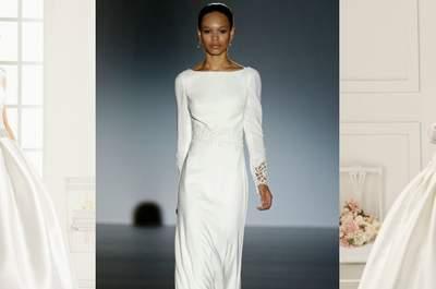 Vestidos de novia 2016 con cuello barco: Los diseños más sofisticados