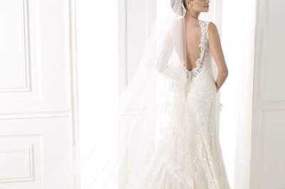 Espalda descubierta en vestidos de novia 2015: ¡atrévete con las nuevas tendencias!