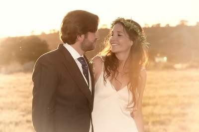Una novia convertida en ninfa de los bosques para una preciosa boda rústica