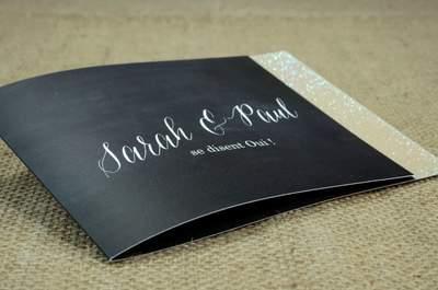 Faire-part de mariage Planet-cards : 100% personnalisables avec paillettes, rubans et vernis