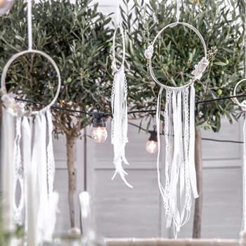 Atrapasueños Decorativos Blancos 3 unidades- Compra en The Wedding Shop