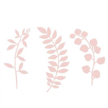 Set de 9 ramitas decorativas de color rosa- Compra en The Wedding Shop