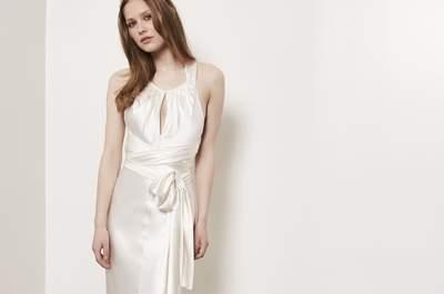 Vestidos de novia con cintas y lazos: 40 diseños llenos de romanticismo