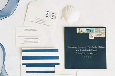 Ideas para decorar tu matrimonio al estilo marinero. ¡Atrévete con esta tendencia tan refrescante!
