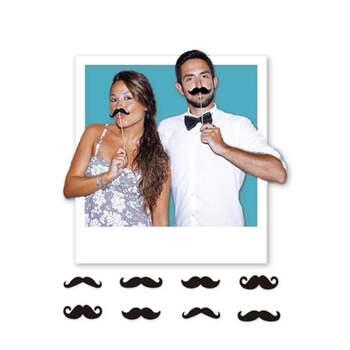 Accessoires Photocall Moustache 8 pièces - The Wedding Shop !