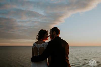 Morza szum, ptaków śpiew...czyli sesja ślubna na molo Oli i Kuby!