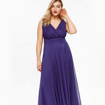 Scarlett  Jo Purple Nancy Marilyn Chiffon Maxi Dress, Evans