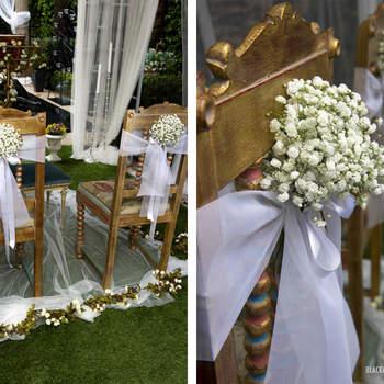 La decoración y los arreglos florales de la ceremonia son algo que no debe faltar en ninguna boda. Foto: Belle Day. http://belleday.com/es/