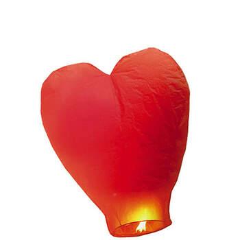 Foto: Farolillo chino corazón rojo