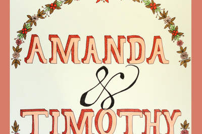 2015 Typography trends for your wedding