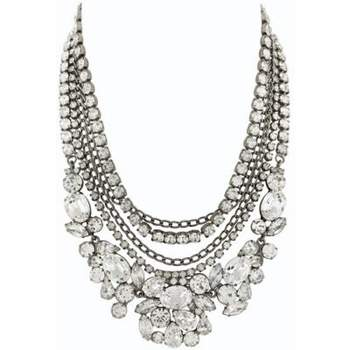 Strepitoso collier a più giri con diamanti di varie dimensioni e forme