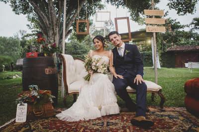Mini Wedding boho lindíssimo de Camila & Léo em meio à natureza no Rio de Janeiro!