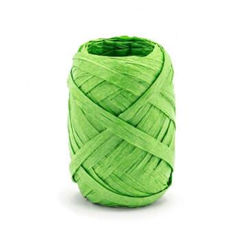 Cinta de rafia verde 10 metros- Compra en The Wedding Shop