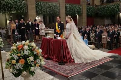 El vestido de Stéphanie de Lannoy en la Boda Real con Guillermo de Luxemburgo