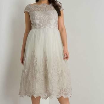 Chi Chi London Grey Curve Cap Sleeve Dress. Credits_ Dorothy Perkins