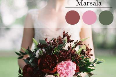 Cómo decorar tu boda con el color Marsala: la tendencia más romántica del 2015