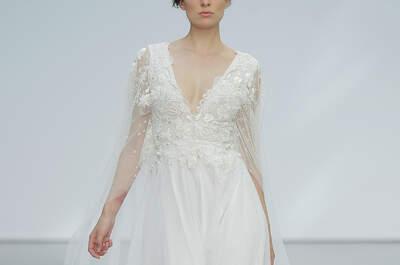 Vestidos de noiva com decote V: perfeitos para alongar sua silhueta com um toque de sensualidade!
