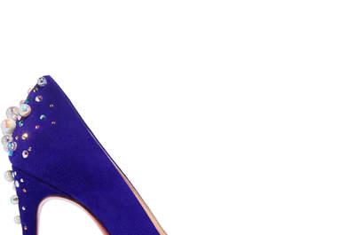 Zapatos de novia de color preciosos: Dale personalidad a tu look de boda