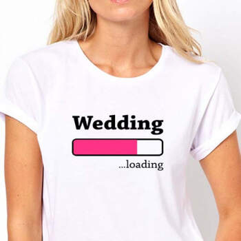 Camiseta wedding loading blanca mujer- Compra en The Wedding Shop