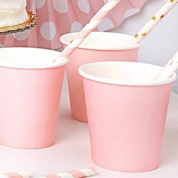 Vasos Rosas Cumpleaños Niña 6 Unidades- Compra en The Wedding Shop