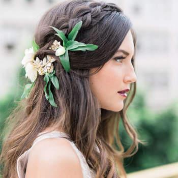 Peinados de novia con trenzas. ¡La tendencia más de moda para lucir en tu matrimonio!