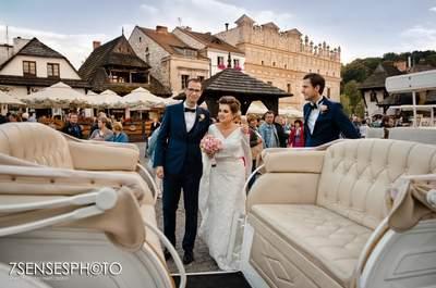 Sylwia i Marcel mieszkają w Szwajcari, ale pobrali się w bajecznym Kazimierzu!
