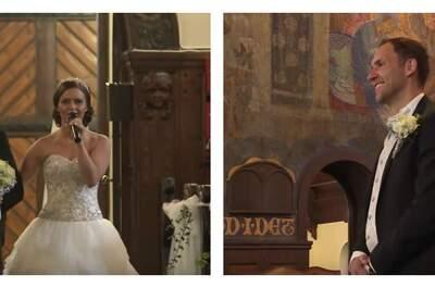 La mariée a réservé une magnifique surprise à l'homme de sa vie... Découvrez laquelle !