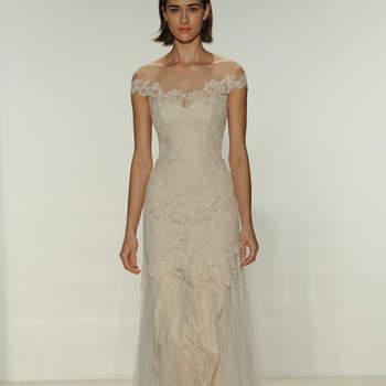 Свадебное платье прямого силуэта от Christos 2015