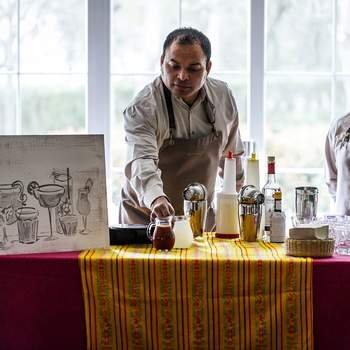 Mexican corner en finca La Muñoza con el Catering The Cook. Credits: Esif Fotografia