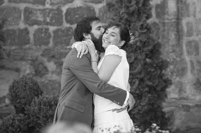 Pura emoción acompañada de eternas notas musicales: así fue la boda de Cristina y Alex