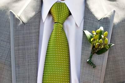 Cómo combinar los accesorios en el look del novio