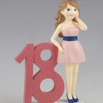 Cake Topper 18 Ans Fille - The Wedding Shop !