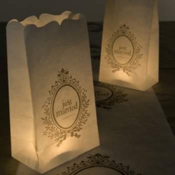 Une belle idée pour illuminer votre mariage ! Sachet photophore - mesinvites.com